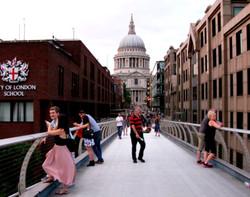 Millenium Bridge on Sunday