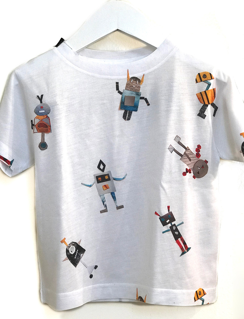 robot collage tee