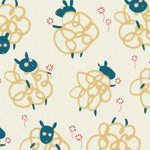 chic sheep with dandelions