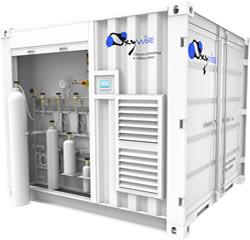 Mobile oxygen filling station