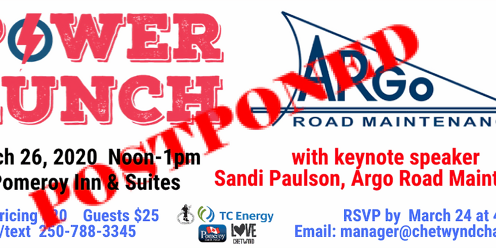 POSTPONED   March Power Lunch with Argo