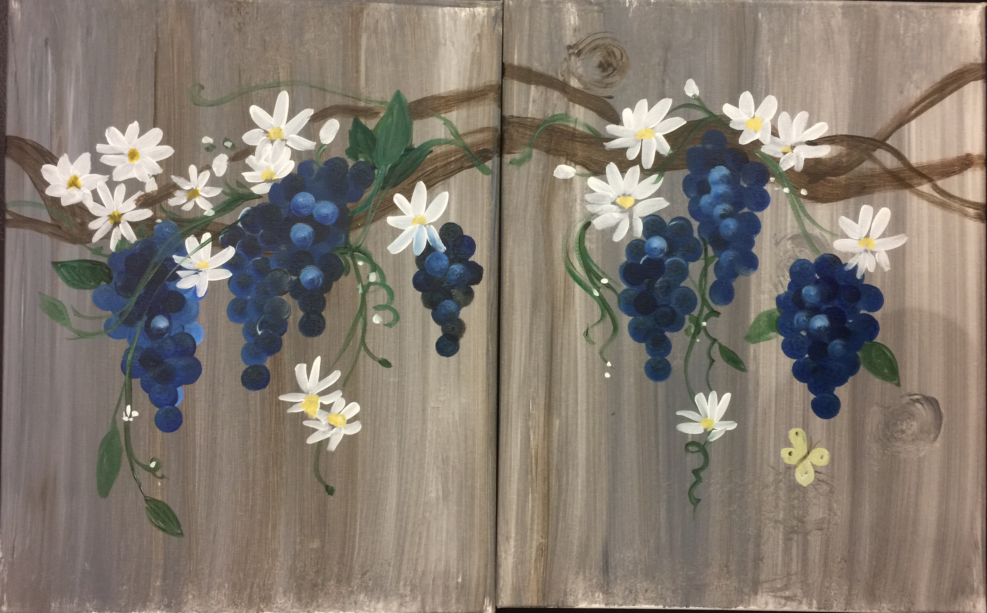 E-1 Grapes and Daisies