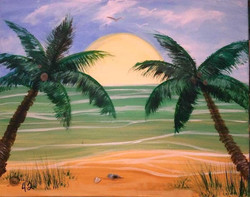 #42 Palm Trees Sunset