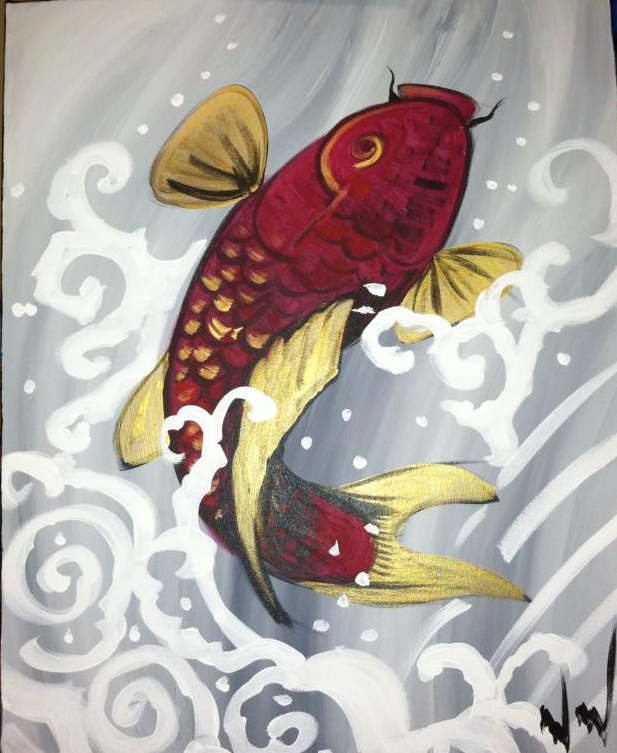 #61-Single Koi Fish