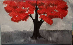 C-18 Red and Gray Tree