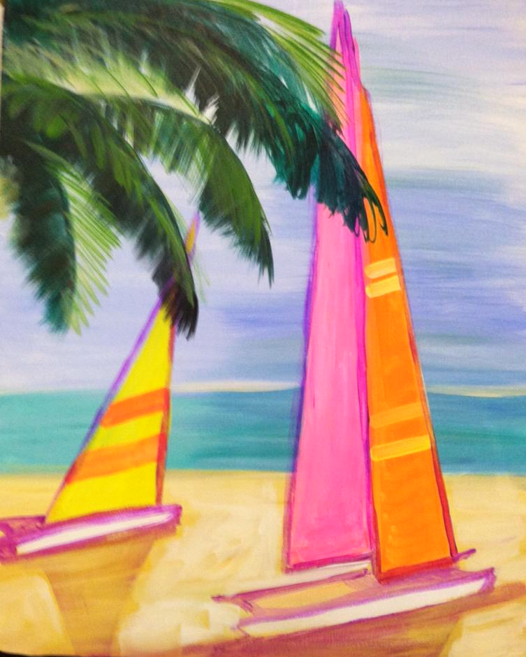 #B37 Pink, Yellow and Orange sails