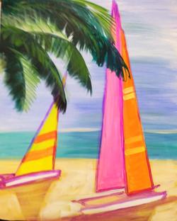 #B37 Pink, Yellow and Orange sails