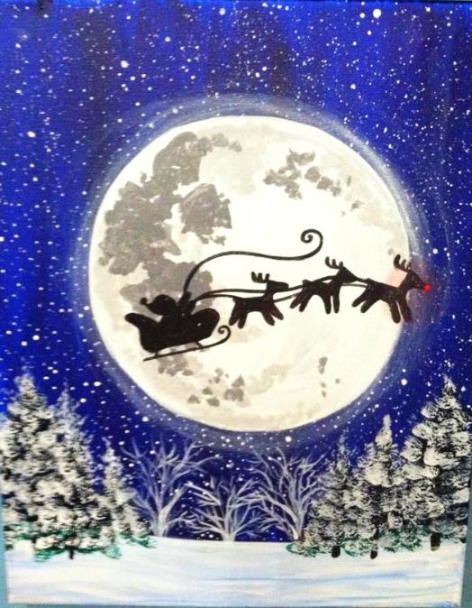 #27 Santa Sledge Moon