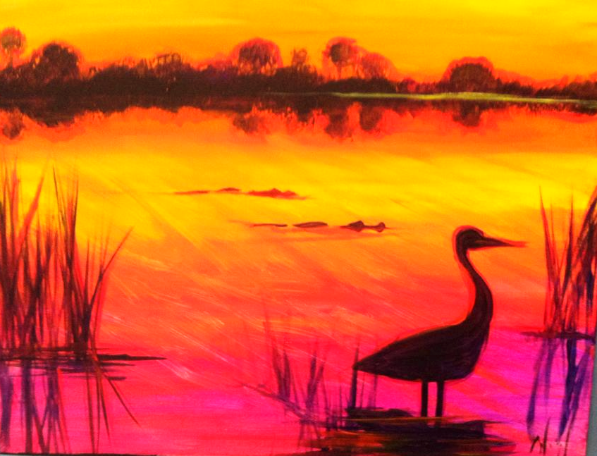 #B29- Sunset Crane
