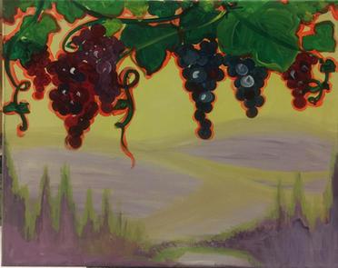 G38 Blue grapes lavander hills