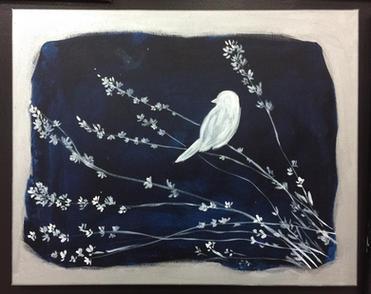 G52 Little Bird, blue, white, silver