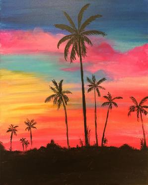G-39 Palm trees fluorescent Sky