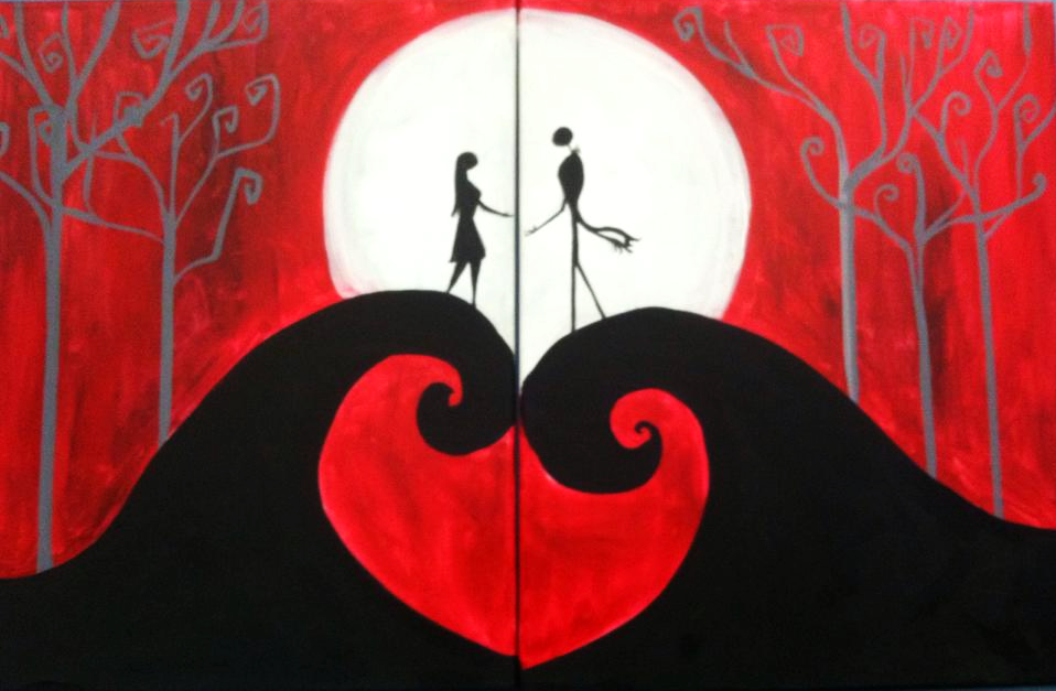 #77-Jack and Sally Date Night Red