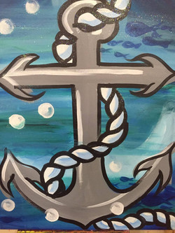 C-48 Anchor Blue background