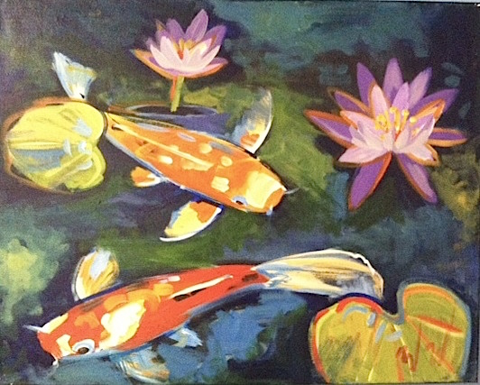 #B16- Two Koi Fish