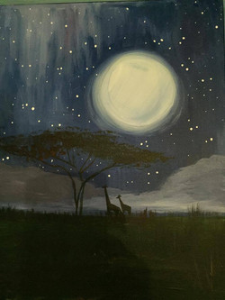 C-47 Africa Giraffes Moon