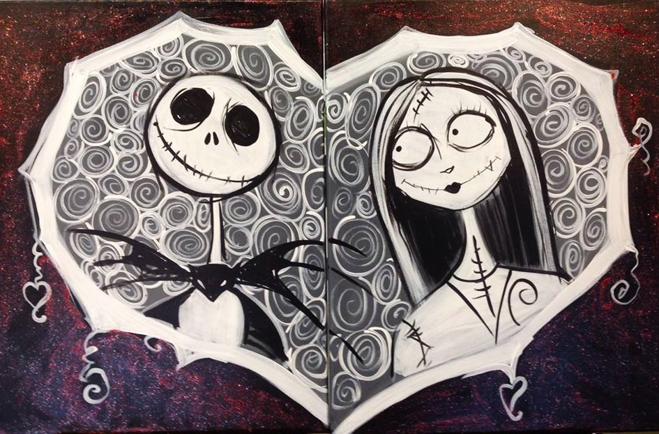 #B01- Jack and Sally Black and White