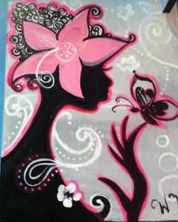 #B50-African American Girl, Pink