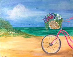 H21 Bicycle by the beach