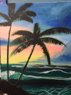 #21 Strong Ocean Palms