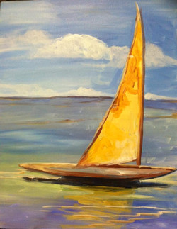 #B36- Sailboat, Classic Style
