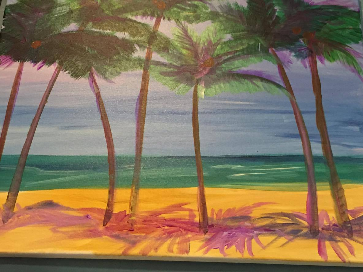 C-27 Palm trees purple shade