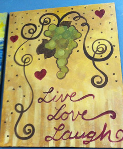 C-36 Grapes Live Love Laugh