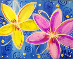 #B20-Bright Abstract flowers