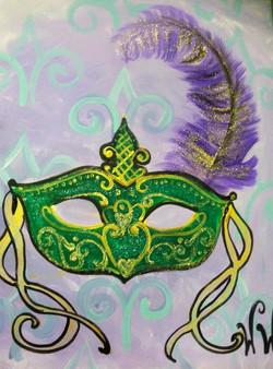 #B24- Mardi Gras Mask