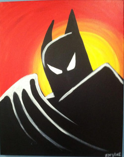 11 Batman yellow and red background