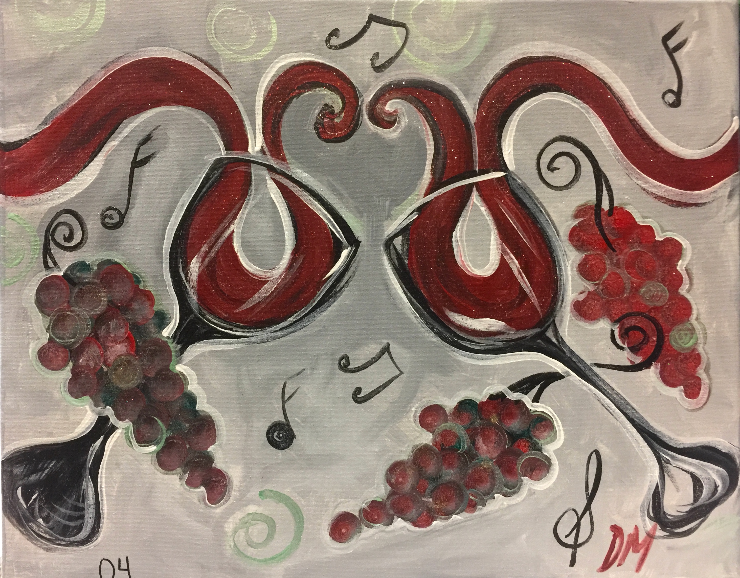 04-Two glasses, gray and red