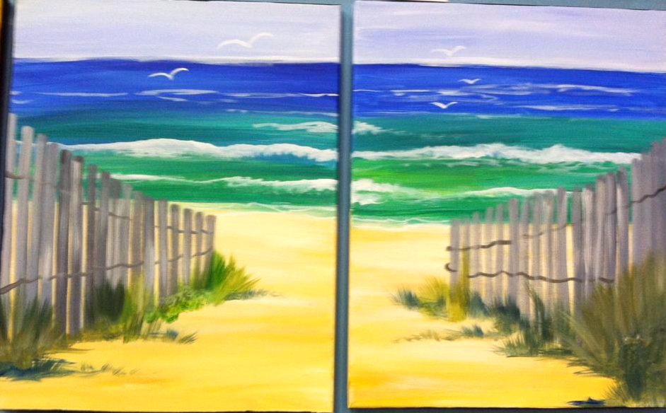 #B31-Beach Path Fence, Date Night