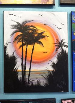 #33- Palm big Sun