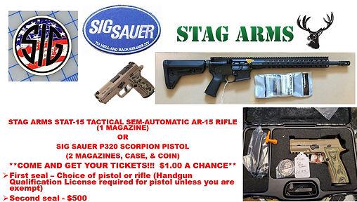 FLYER FOR SIG SAUER PISTOL & STAG AR-15
