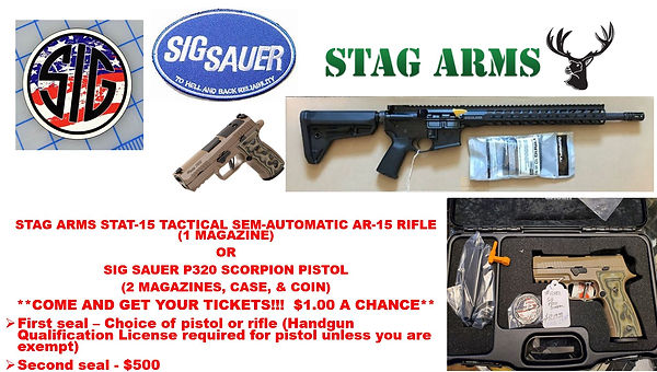 FLYER FOR SIG SAUER PISTOL & STAG AR-15