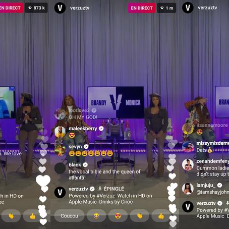 Brandy VS Monica, le Verzuz Battle qui a réunit +1,2 millions de spectateurs en live sur Instagram
