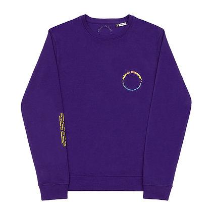'Créol Brothers' purple sweatshirt