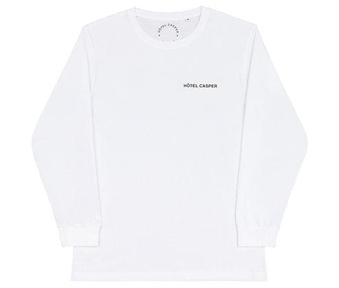 'Logo' white l/s tee