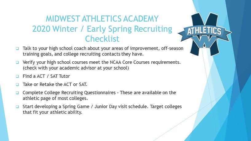 2020 MWAA Winter Spring Recruiting Check