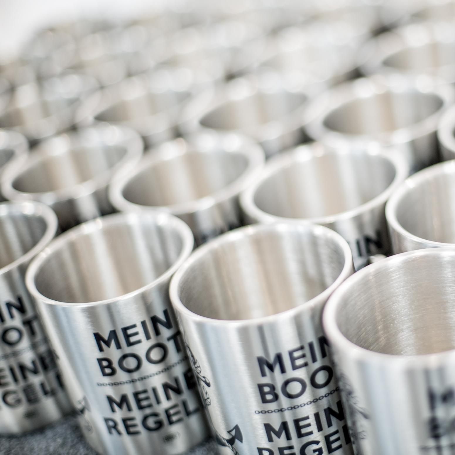 Edelstahl mugs