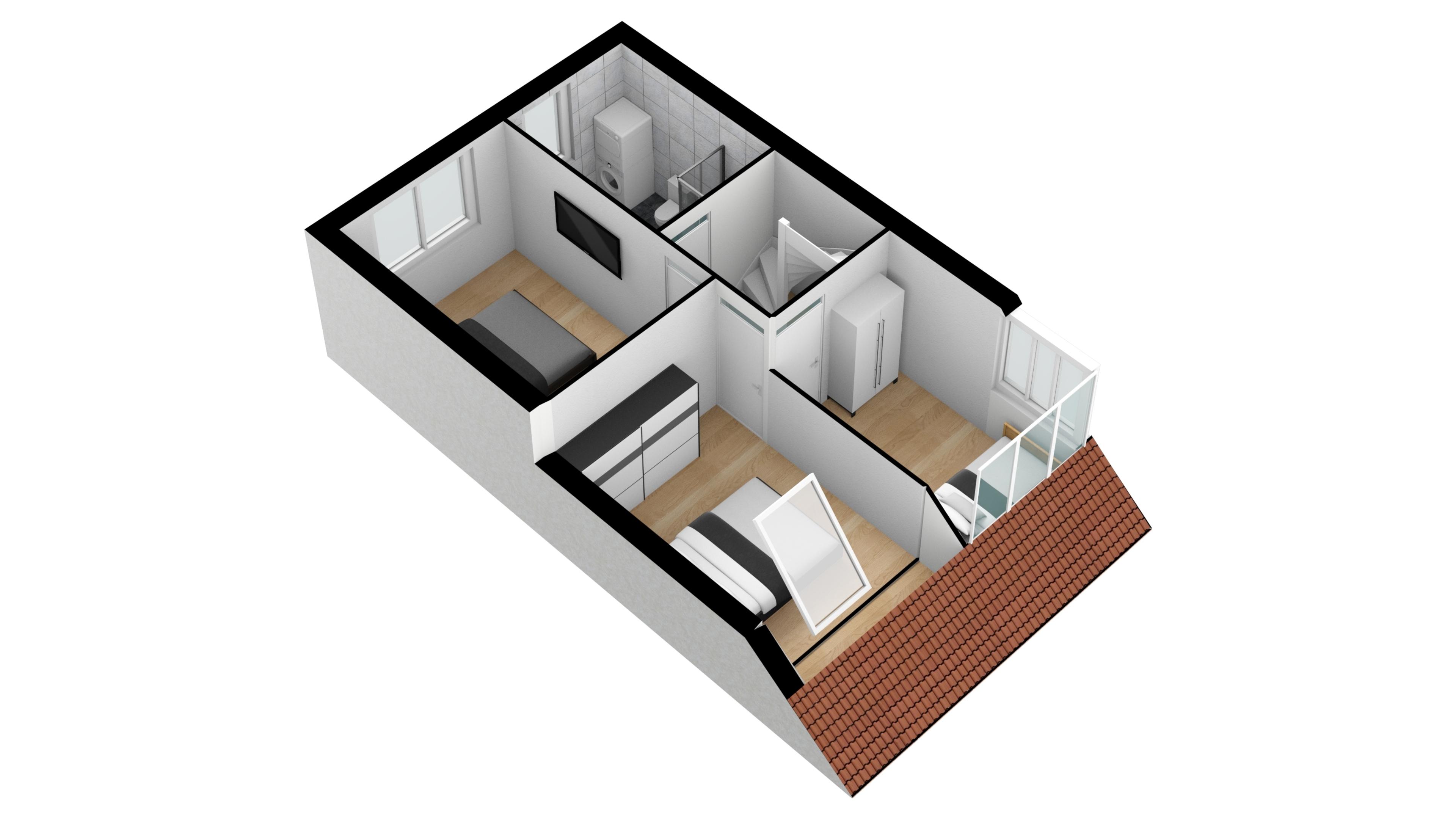 eerste verdieping 3D SW