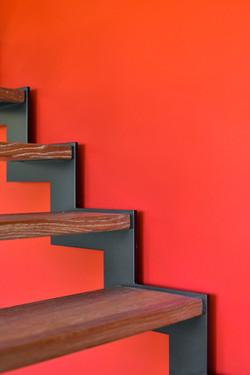 Detailfoto van moderne trap