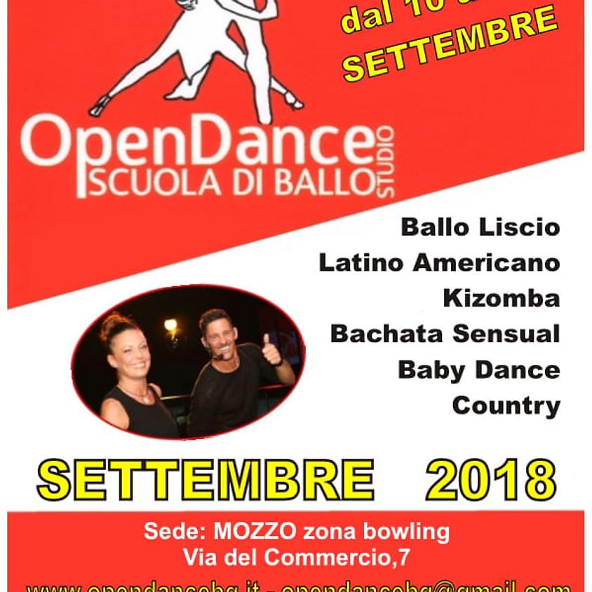 Open Week dal 10 al 15 settembre