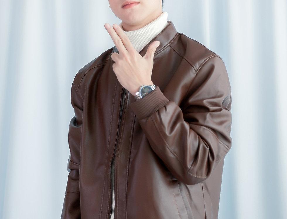 เช่าแจ็คเก็ตสั้น หนังPU ชาย รุ่น BANGKOK | JKACPBR
