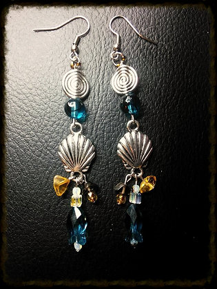 Sea Themed Earrings w/ Swarovski