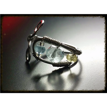 Natural Stone Wire Wrapped Ring