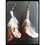 Thumbnail: Earthy Brown Toned Feather Earrings w/ Bronze Wire