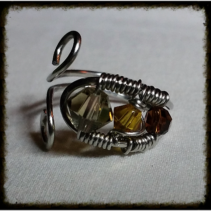 Swarovski Wire Wrapped Ring