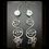 Thumbnail: Wire Wrapped Swirl Earrings w/ Pearl & Quartz