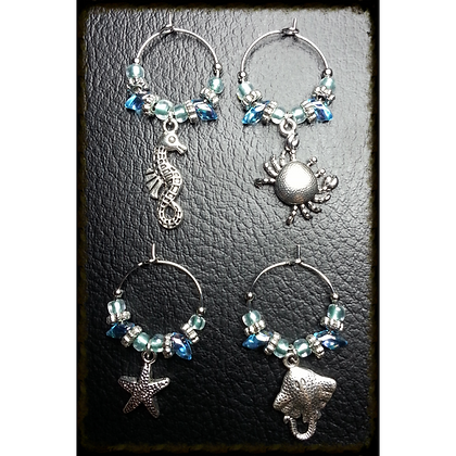 Sea Themed Wine Charms